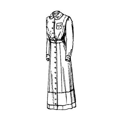 Semi-Princess Dress Pattern 1910-1911