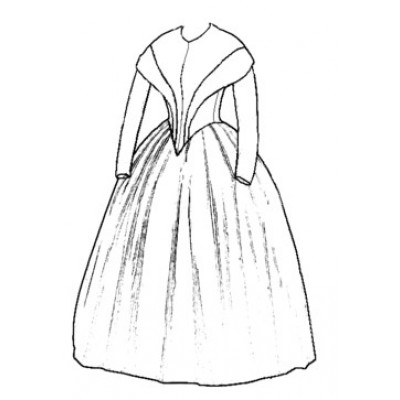 1845 German Day Dress
