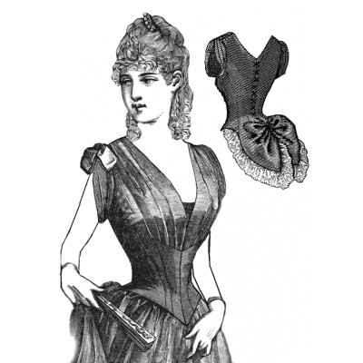 1886 Evening Bodice