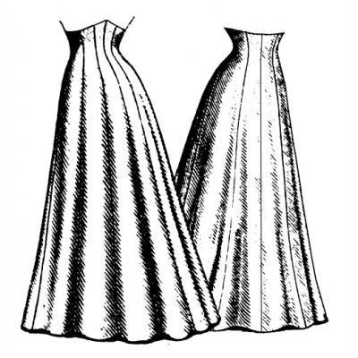 1906 Ten Gore Princess SKirt