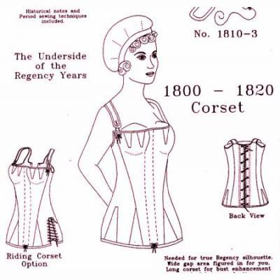 1800 - 1820 Regency Corset