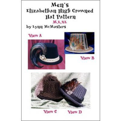 Mens Elizabethan High Crowned Hat Pattern