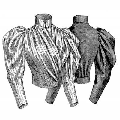 1893 Blouse with Surplice Front