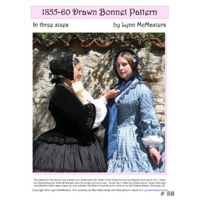 1855-60 Drawn Bonnet Pattern in 3 sizes