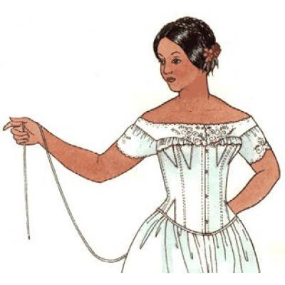 1840s - 1880s Corset