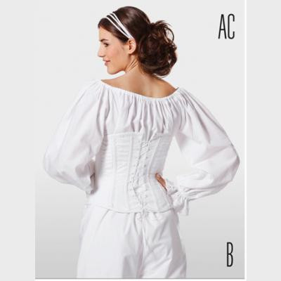 Corset, Chemise and Drawers from Burda