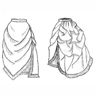 Bustled Apron Overskirt