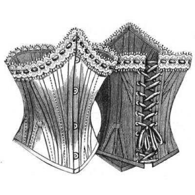 1893 Ladys Low Corset