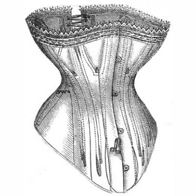 1876 Corset for Cuirass Basques