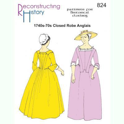1740s-70s Closed Robe Anglais