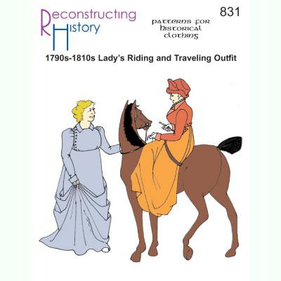1790s-1810s Ladys Riding or Traveling Outfit