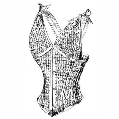 1900 Corset in Net