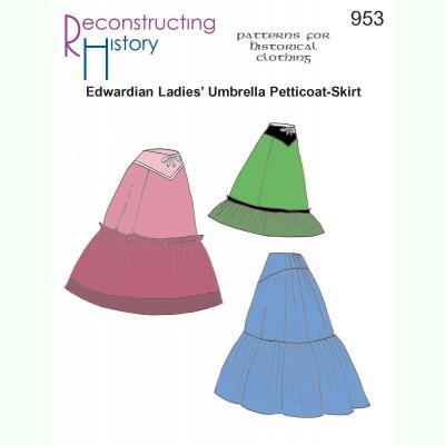 Ladies Edwardian Umbrella Petticoat-Skirt