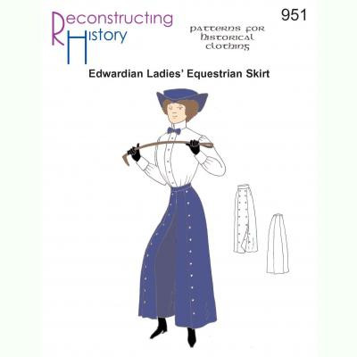 Edwardian Ladies Equestrian Skirt