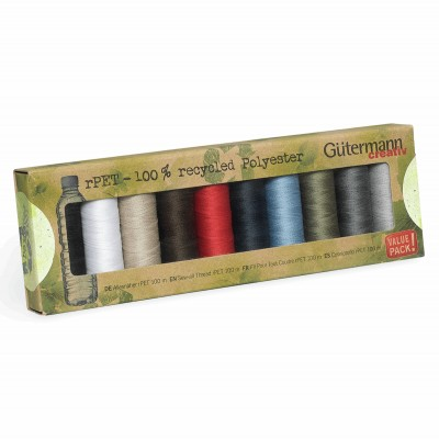 Gutermann Recycled Polyester Thread 10 X  100m  assorted reels