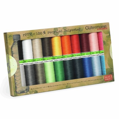 Gutermann Recycled Polyester Thread 20 X  100m  assorted reels