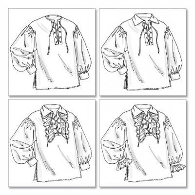 Mens Historical Laced Shirts
