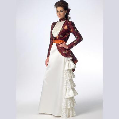 Jacket, Blouse and Skirt with Ruffles