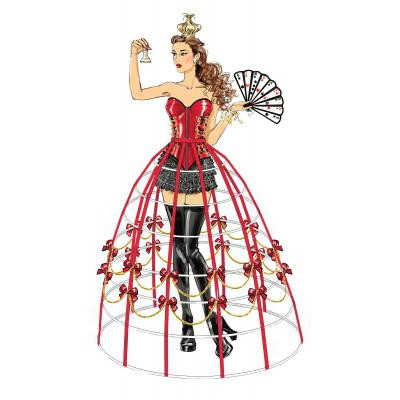Corsets, Shorts, Collars, Hoop Skirts and Crown