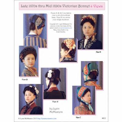 Late 1870s thru mid 1890s Victorian Bonnet