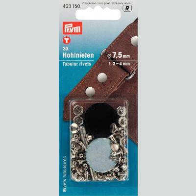 Tubular Rivets -Two Part - Prym brand . Leather etc