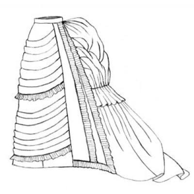 1875 Parisian Trained Skirt