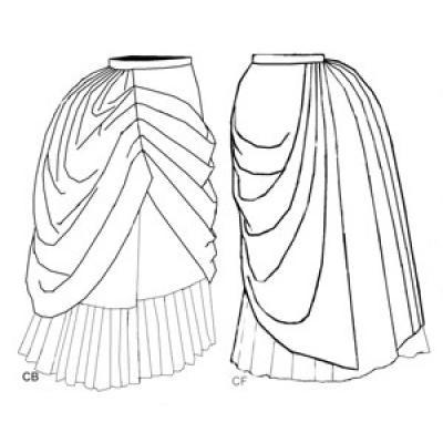 1886 Asymetrical Drapery Add-on
