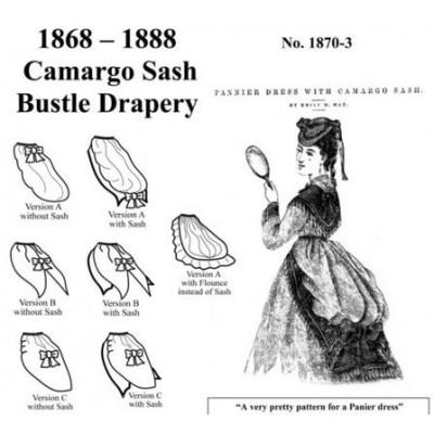 1868 - 1888 Camargo Sash Bustle Drapery Pattern