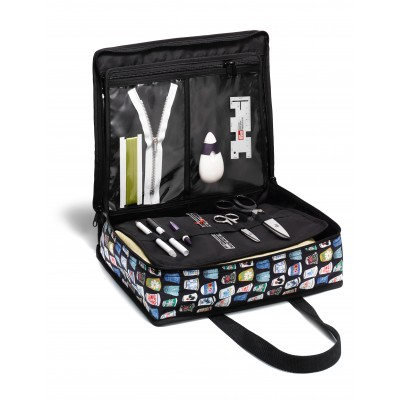 All in one sewing bag with Thimbles motif