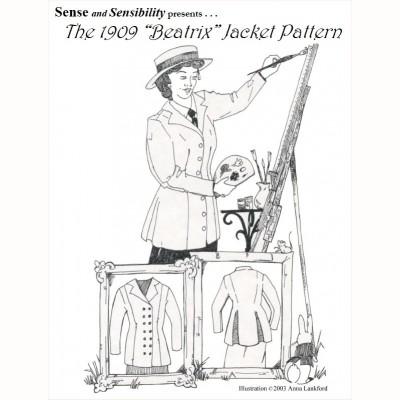 "1909 ""Beatrix"" JacketPattern"