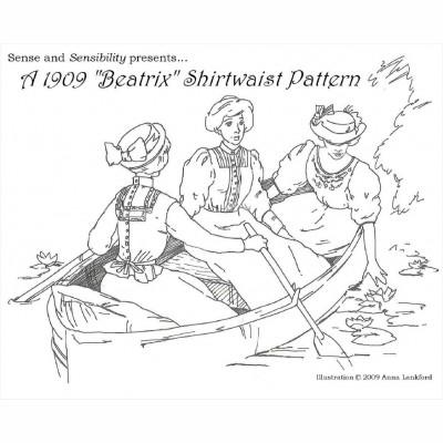 "1909 ""Beatrix"" Shirtwaist Pattern"