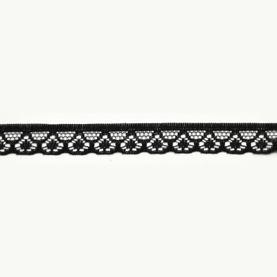 Black Narrow Lace Trim -1cm deep, TO CLEAR
