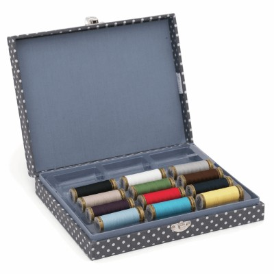 Thread Spool Storage Box with 12 x 150m Guterman Sew All Thread