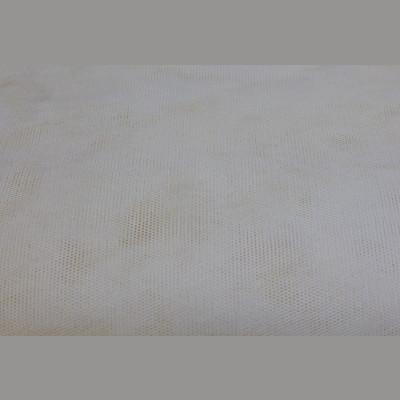 Silk Bobbinet -Ivory - Stiff