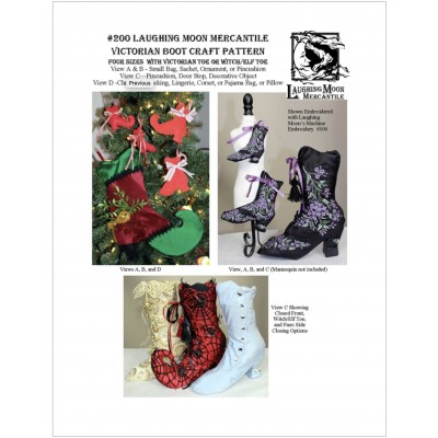 Laughing Moon Mercantile, Crafts #201 Victorian Boot