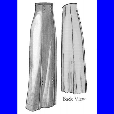 1911 Narrow Panel Skirt